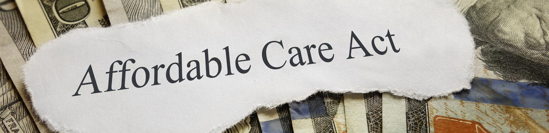 Affordable Care Act banner