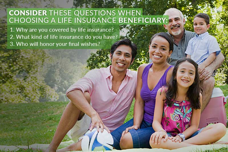 consider these questions when choosing a life insurance beneficiary